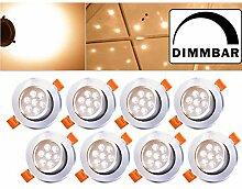 Hengda® 8 Stück LED Einbaustrahler Dimmbar