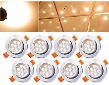 HENGDA® 8er Pack 7W LED Einbauleuchte Warmweiß
