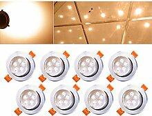 Hengda® 8er Set LED Einbaustrahler Dimmbar