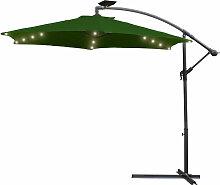 Hengda Alu Sonnenschirm Terrassenschirm mit 48 LED