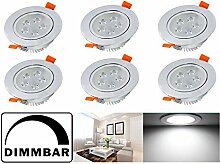 Hengda® Dimmbar LED Einbaustrahler Schwenkbar