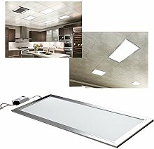 hengda® HIGH POWER 36W LED Panel 120 x 30 cm Lampe und Wandleuchte Kaltweiß Schlafzimmer Wohnzimmer mit Transformator (36 Watts)