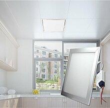 Hengda® Highpower LED Panel Ultraslim Warmweiß Neutralweiß Weiß 120x30cm 60x30cm 30x30cm SLIM Lampe Leuchte (30 X 30 CM, Weiß)