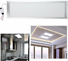 Hengda® Highpower LED Panel Ultraslim Warmweiß Neutralweiß Weiß120x30cm 60x30cm 30x30cm SLIM Lampe Leuchte (30 X 120 CM, Weiß)