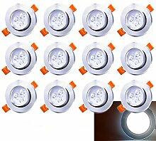Hengda LED Einbau-Strahler Inkl. 12 x 3W LED