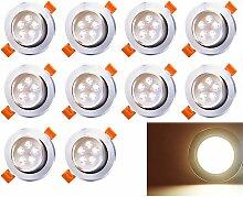 Hengda LED Einbaustrahler 10x 5W Warmweiß 3200K