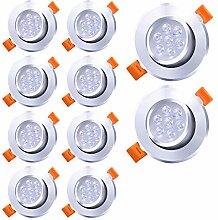 Hengda LED Einbaustrahler 6500K Dimmbar Kaltweiß