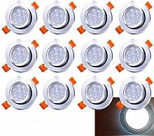 Hengda LED Einbaustrahler Schwenkbar 12X 7W 230V