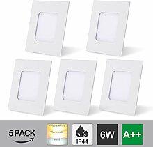 Hengda LED Panellampe 5er Set Einbaustrahler 6W