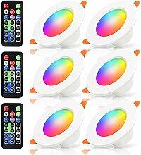 Hengda LED RGB Einbaustrahler mit Fernbedienung