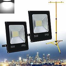 Hengda® LED Strahler 2x 50W Kaltweiß Fluter
