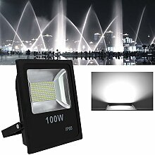 Hengda® LED Strahler Fluter Scheinwerfer Floodlight Flutlicht Innenbeleuchtung Außenbeleuchtung Wasserdicht IP65 Außenstrahler AC85 - 265V Außenstrahler Außenleuchte Wandstrahler (100W Kaltweiß)