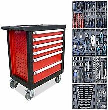 Hengda Werkzeugwagen gefüllt mit 220pcs Werkzeug