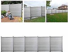 Hengda®WPC Zaun Sichtschutz Aluminium Windschutz