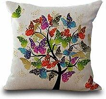 hengjiang Baumwolle Leinen Kissen Bezug Bildschirmschutzfolien 45,7x 45,7cm/45x 45cm Kissen Wirft Kissen Fall Sofa Dekoration colorful Butterfly 03