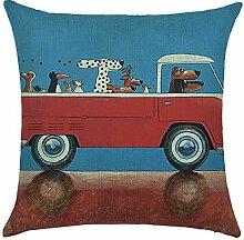 hengjiang Creative Hund fahren Auto weiche Kissenhülle Kissenbezug Baumwolle Double-Seite quadratisch Dekorative Home Zubehör (# 00) #01