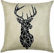 hengjiang Giraffe Elk Deer Nordic Geometrische Animal Kissen 120g Dicke Baumwolle Leinen doppelseitig Kissen Fall Kissen für Home Stuhl Sofa Bett Shop Bar Club Auto Büro Decor 11