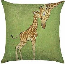 hengjiang Giraffe Elk Deer Nordic Geometrische Animal Kissen 120g Dicke Baumwolle Leinen doppelseitig Kissen Fall Kissen für Home Stuhl Sofa Bett Shop Bar Club Auto Büro Decor 07