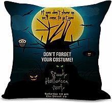 hengjiang Halloween Totenkopf Kissen Bezug Baumwolle Sofa Decor Werfen Kissenbezüge Kissenbezug Decor Kissenbezug #08