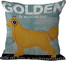 hengjiang Lovely Pet Baumwolle Leinen Quadratisch Home Decor Kissenbezug Creative Kissen Fall Süßer Hund (# 00) #17