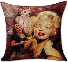 hengjiang Sexy Lady Leinen-Mischgewebe Sofa Star Kissenhülle Künstler quadratisch Kissen Fall Marilyn Monroe #05
