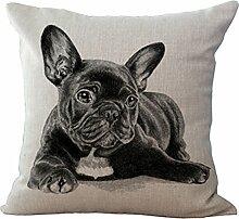 hengjiang Süße Französische Bulldogge, Leinen Baumwolle dekorativen Kissenbezug, Fall Hund 07
