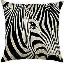 hengjiang Zebra Kunst Kissen 120g Dicke Baumwolle Leinen doppelseitig drucken quadratisches Kissen, Kissen Fall für Home Stuhl Sofa Bett Shop Bar Club Auto Büro Decor 04