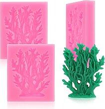 HengKe 2 Stück Korallenförmige Fondant-Formen,