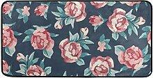 hengpai Küchenteppich mit Blumen, Beeren,