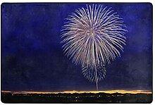 hengpai Teppich mit Feuerwerk-Motiv, rutschfest,
