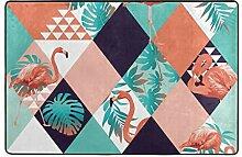 hengpai Teppich mit Flamingo-Motiv, rutschfest,