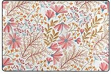 hengpai Teppich mit Frühlingsblumen-Motiv,
