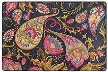 hengpai Teppich mit Paisley-Muster, rutschfest,