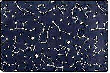 hengpai Teppich mit Sternbild-Motiv, rutschfest,