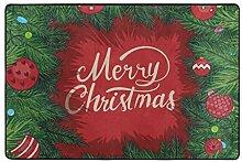 hengpai Teppich mit weihnachtlichen Zweigen,