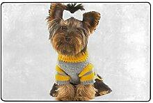 hengpai Teppich mit Yorkshire Terrier-Motiv,