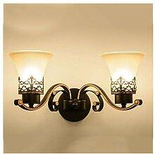 HENGXIAO-wall lamp Retro Iron Art Wandleuchte
