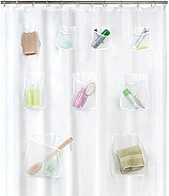 Henreal Clear Duschvorhang PVC transluzent mit