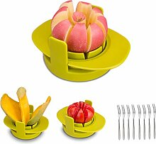 HENSHOW Obstschneider Set, 4 in 1 Multifunktions