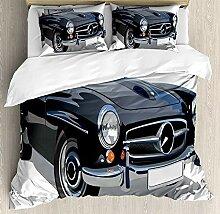 Henuk Cars Bettwäsche-Set für Einzelbett,