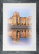 Henzo Capital Berlin 30x40 blau Bilderrahmen,
