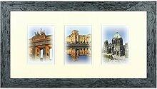 Henzo Capital Berlin 3x13x18 blau Bilderrahmen,