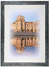 Henzo Capital Berlin 50x70 blau Bilderrahmen,