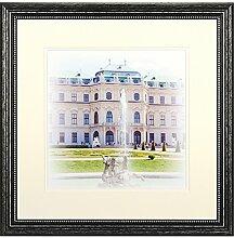 Henzo Capital Wien 40x40 schwar Bilderrahmen,