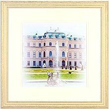 Henzo Capital Wien 40x40 Weiss Bilderrahmen, Holz,