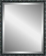 Henzo Chic Baroque Mirror Spiegel, Holz, Dunkelgrau, 40 x 50 x 2.0 cm