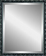 Henzo Chic Baroque Mirror Spiegel, Holz, Schwarz, 40 x 50 x 2.0 cm