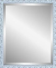 Henzo Chic Baroque Mirror Spiegel, Holz, Weiß, 40 x 50 x 2.0 cm