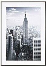 Henzo Manhattan Bilderrahmen, Metall, grau, 50 x