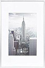 Henzo Manhattan Bilderrahmen, Metall, Silber, 20 x